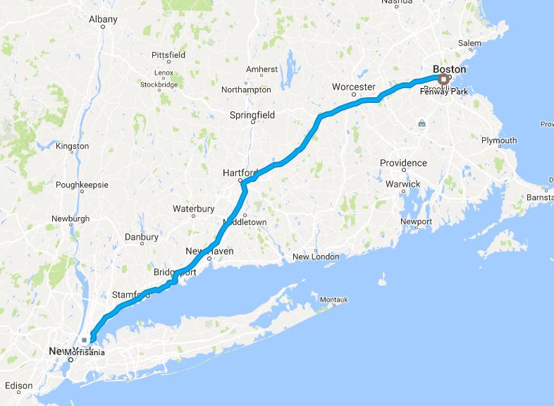 2013 Boston MA Vacation Map