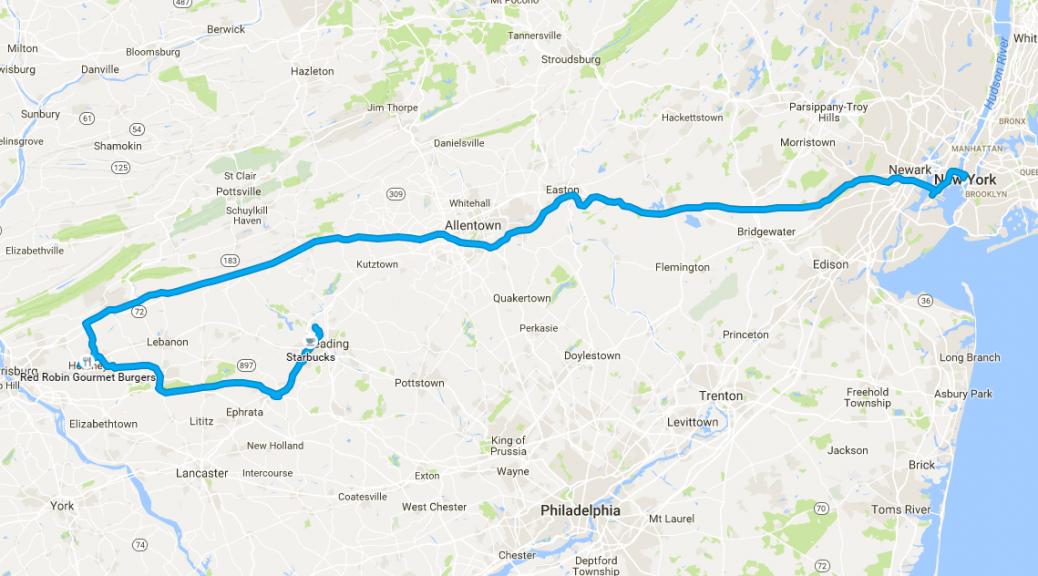 2015 Hershey Vacation Map