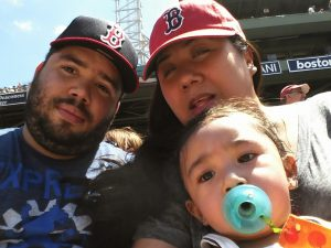 The Family at Fenway Park, 2013