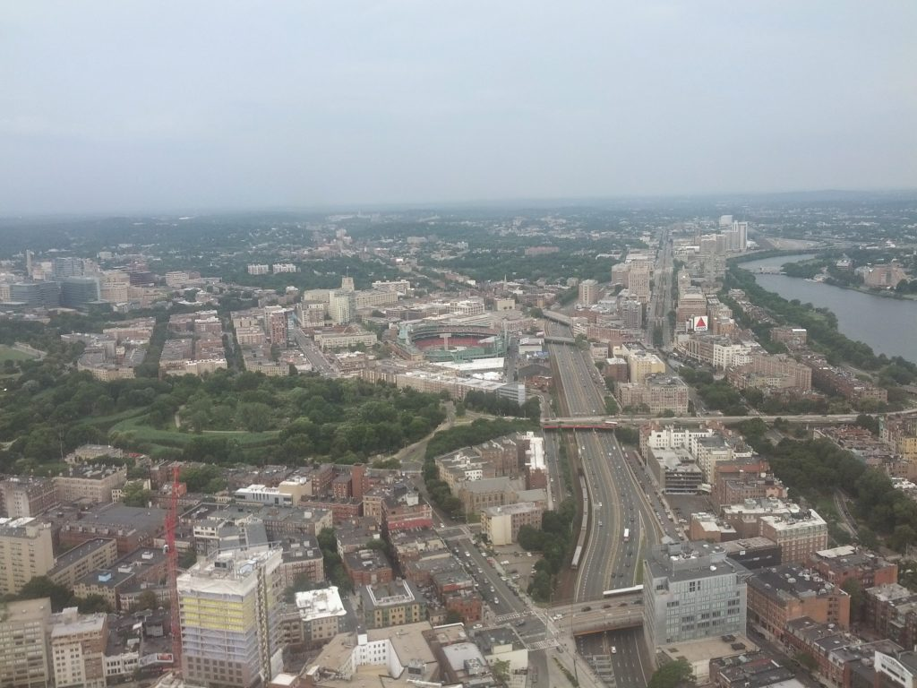 View from Prudential Tower Skywalk